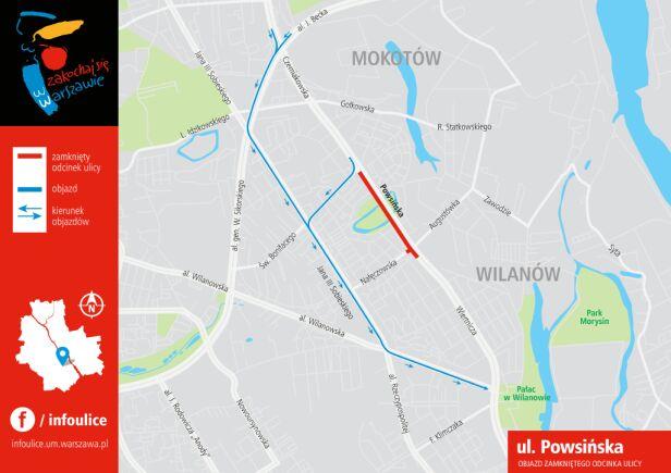 Remont Powsińskiej pomiędzy 15 a 17 czerwca ZDM