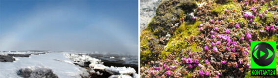 Biała tęcza nad niebem Arktyki. Lato już tuż-tuż