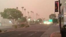 Potężna ściana pyłu pogrążyła Phoenix w mroku