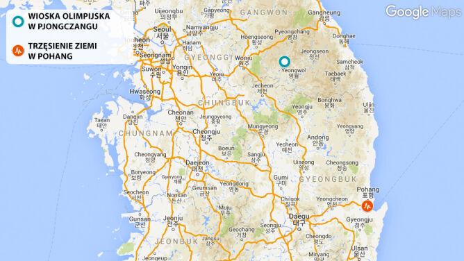 Trzęsienie ziemi w Korei Południowej. Są ranni