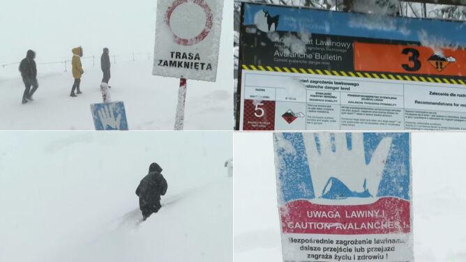 Nawet dwa metry śniegu w górach. Zagrożenie lawinowe